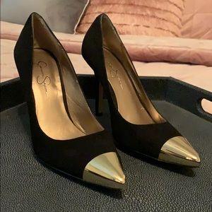 Gold tip heels